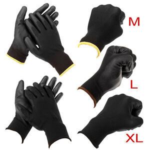 24-paires-M-L-XL-Gants-de-travail-mecanicien-palme-Nylon-Pu-homme-unisexe-glove