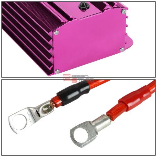 CAR//TRUCK AUDIO PURPLE VOLT//VOLTAGE POWER STABILIZER REGULATOR ENGINE FUEL SAVER