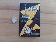 Rolex Bucherer Katalog Prospekt Lucerne 1945 Oyster perpetual tourist reprint