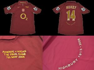 sale retailer 3b08c 7bef2 Details about Arsenal jersey 2005 2006 away last match in highbury henry  shirt premier league