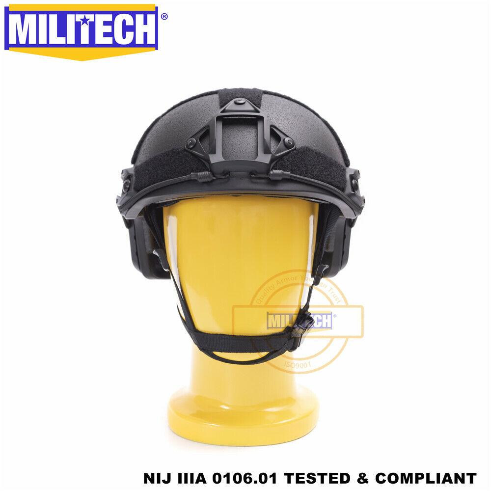 MILITECH BK M L Deluxe Roll Dial High Cut  Ballistic Helmet NIJ IIIA 3A FAST SHIP  for cheap