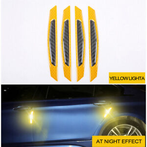Details About 4x Safety Reflective Warning Strip Car Bumper Reflector Stickers Decals Orange