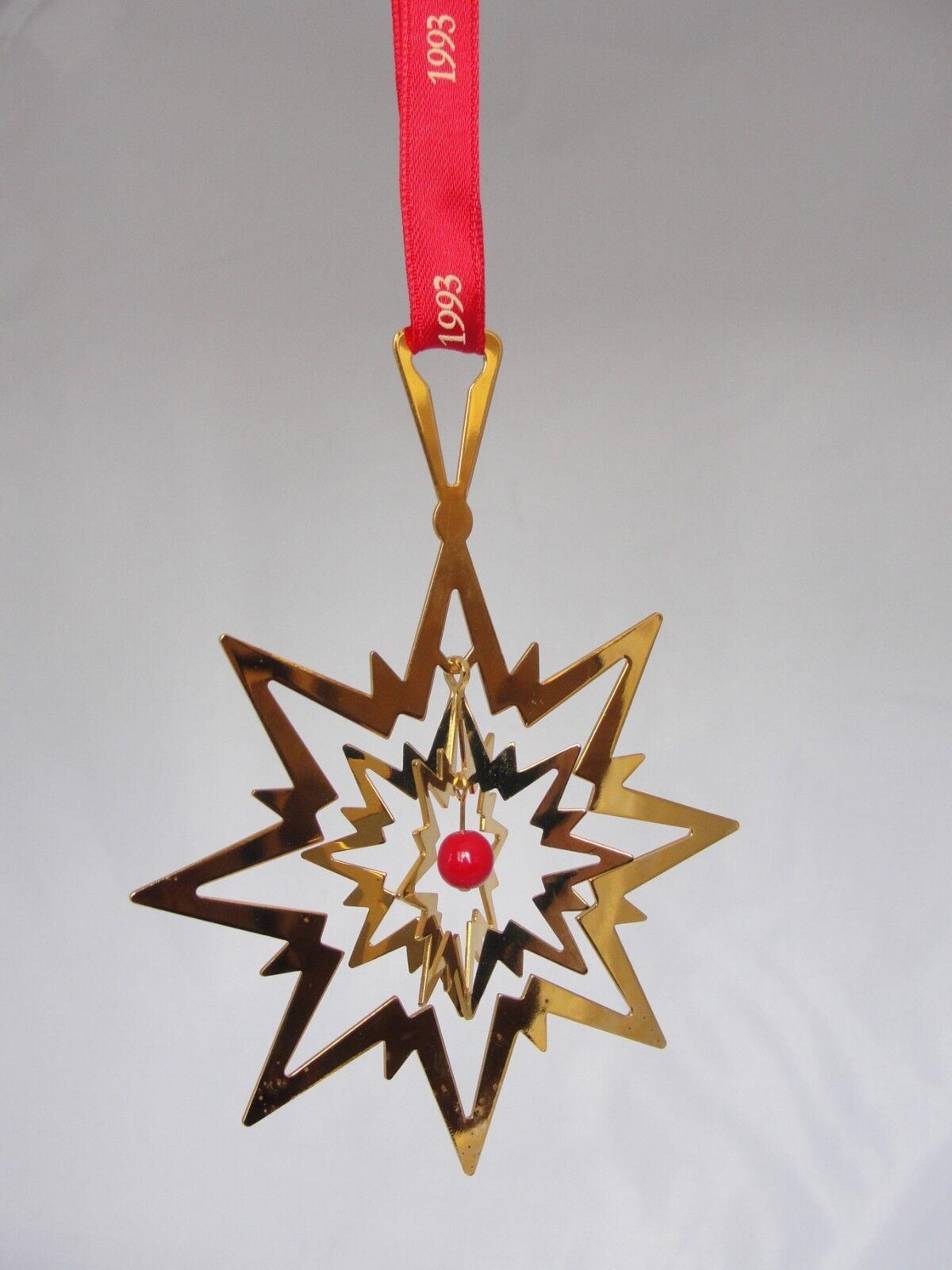 1993 Georg Jensen Decorazione Di Natale Stella mobile con perla rossa