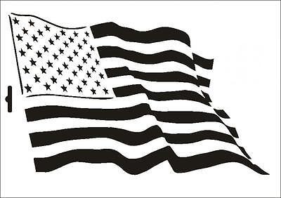 Wandschablone Maler T-shirt Schablone W-215 Ami Flagge ~ UMR Design