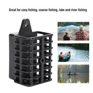 Black-Carp-Fishing-Feeder-Bait-Cage-Lure-Holder-Basket-Trap-Lead-Sinker-Tackle