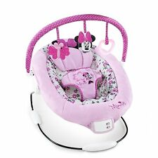 Disney Minnie Mouse Garden Delights Bouncer Baby Girl Pink Basket Seat Toy NEW!