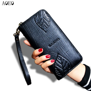 AOEO-Ladies-Embossing-Wallet-Female-With-Genuine-Leather-Wristlet-Card-amp-Id-Hold