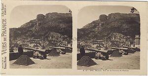 Monaco-Vista-Su-La-Terrasse-Del-Chateau-Stereo-Vintage-Analogica-Ca-1910