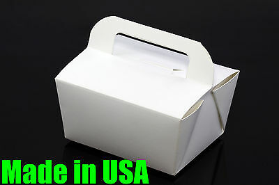 """100x 6"""" Handle Take Out / To Go Food Boxes Microwavable Noodles Muffin Bakery"""