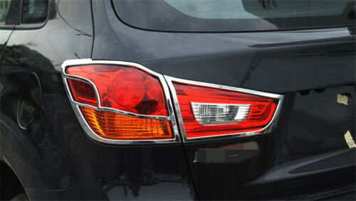 for 10-17 Mitsubishi ASX Outlander Sport Chrome Rear Tail Light Lamp Cover Trim