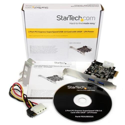PCIe SuperSpeed USB 3.0 Card Adapter StarTech PEXUSB3S25 2 Port PCI Express