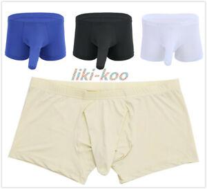 ICE-Seta-Da-Uomo-pene-guaina-Boxer-Slip-liscio-BAULI-Underwear-Panties