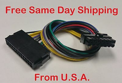 New 24 Pin to 14 Pin ATX For Lenovo IBM Power Supply Motherboard Adapter Cable