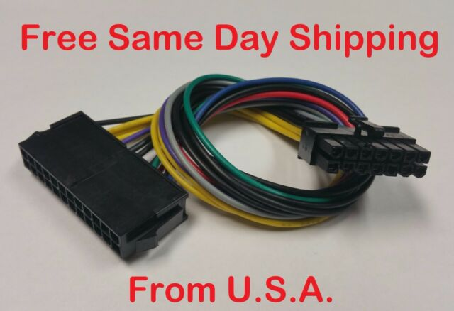U.S Seller Acer 24-Pin to 12-Pin PSU Power Supply ATX Main Power Wire Adapter