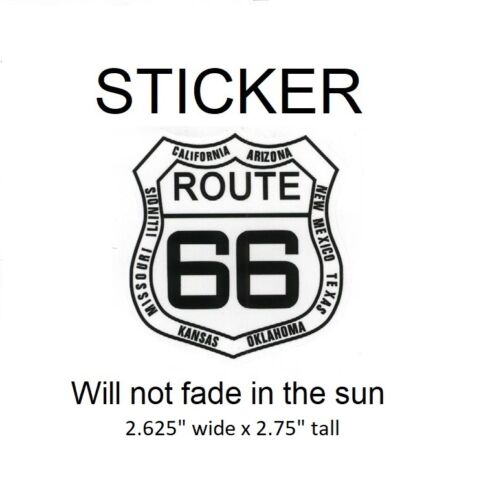 """Route 66 avec état noms Vinyle Autocollant-ne sera pas Fade In Sun 2.625/"""" X 2.75/"""""""