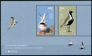 Ireland-2019-MNH-National-Birds-Europa-2v-M-S-Terns-Plovers-Waders-Stamps