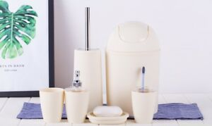 6PCS-Solid-Luxury-Plastic-Bathroom-Accessories-Set-Wash-Suit-Shell-Bath-Set