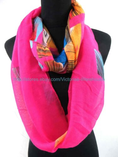 10PC geomatric colorful circle loop Gift for her Infinity Scarves US SELLER