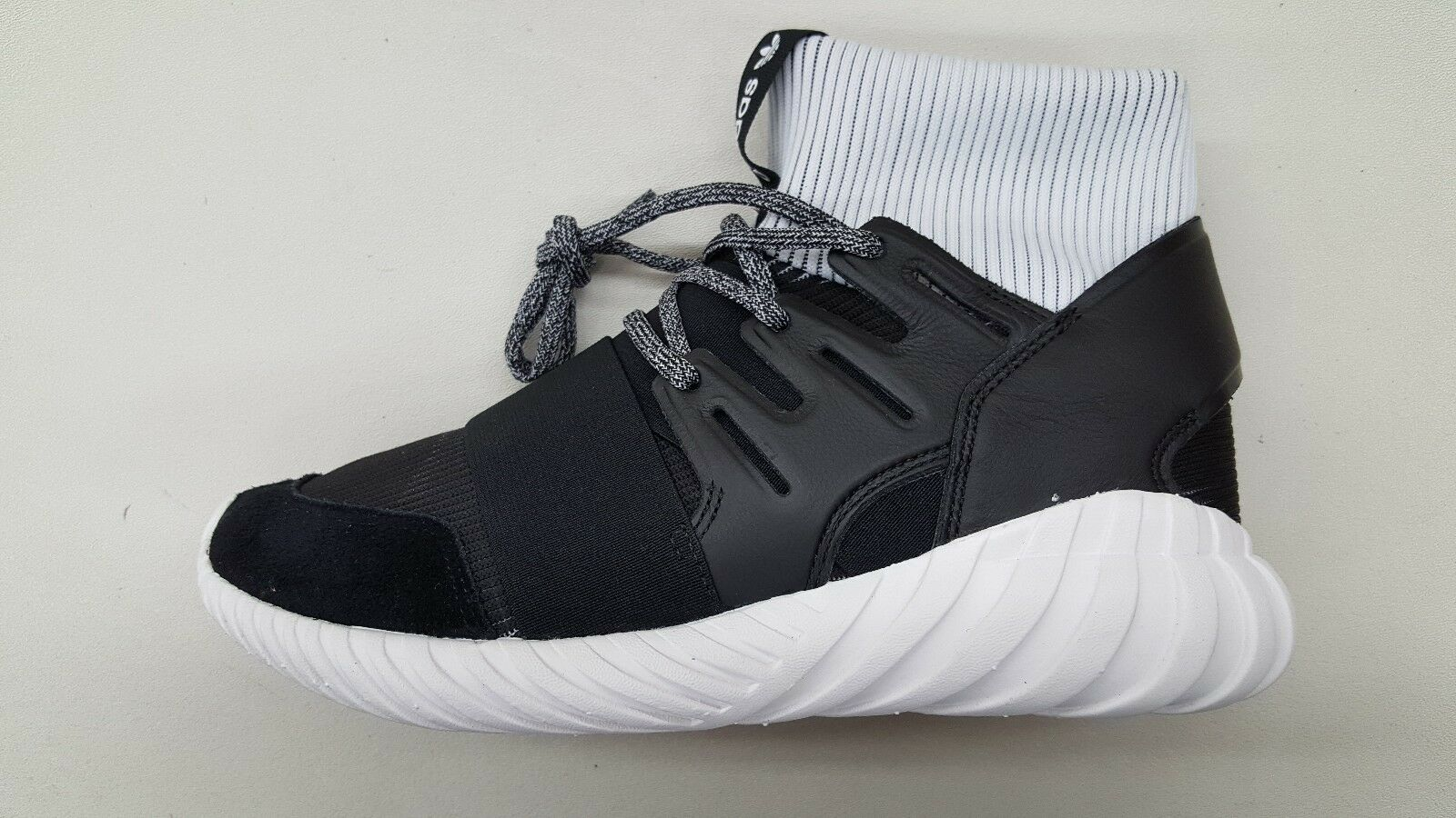ADIDAS ORIGINALS TUBULAR DOOM CORE BLACK WHITE Uomo SIZE SNEAKERS BA7555