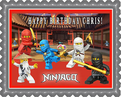 Peachy Lego Ninjago 1 Edible Birthday Cake Topper Or Cupcake Topper Funny Birthday Cards Online Inifofree Goldxyz