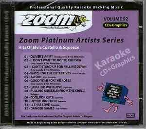 Zoom-Karaoke-Platinum-Artists-CDG-Vol-092-ZPA092-Elvis-Costello-amp-Squeeze