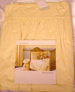 Mamas-and-Papas-Yellow-039-Jenny-Giraffe-039-Cot-Valance-New