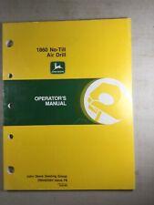 John Deere 1860 No Till Air Drill Operators Manual