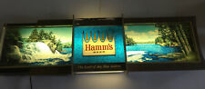 HAMM'S 65 PANORAMIC RIPPLER MOTION WaterFall Lighted Beer Sign Works