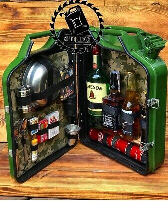 mini bar jerry can camping picnic fuel canister NEW man cave handmade metal best men/'s gift