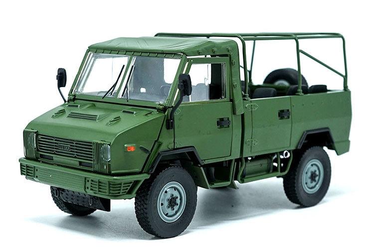 1 24 Iveco NJ2046 modelo diecast camión De Ejército Coloree verde