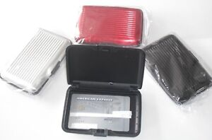 RFID Scan Protected Aluminium Hard Case Security Wallet Bank Credit Card Holder