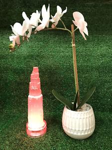 "6"" Selenite Tower Crystal Quartz Natural Stone Led W/ Control Change Colors"