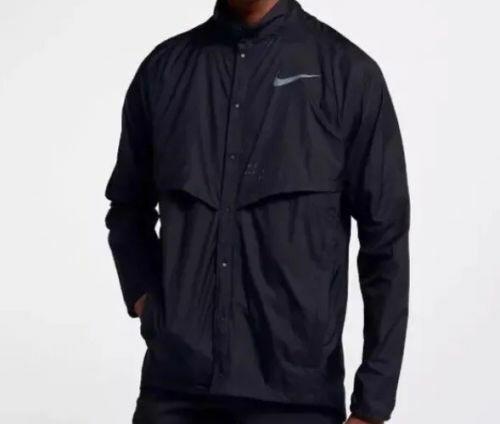 d9d3e529e9048e Nike Run Division Men s Running Jacket in Black 922040-100 Sz Large for sale  online