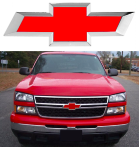 Colormatched Victory Red Vinyl Bowtie Overlay For 1999-2006 Silverado New USA