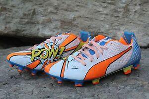 149f74836 09 Rare Puma EvoPower 1.2 FG Pop Pow! Boom! Soccer Cleats Men s Size ...