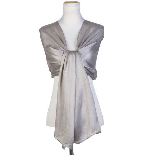 Femmes soyeux irisés écharpe maxi wrap étole châle pour mariage//mariée//parti