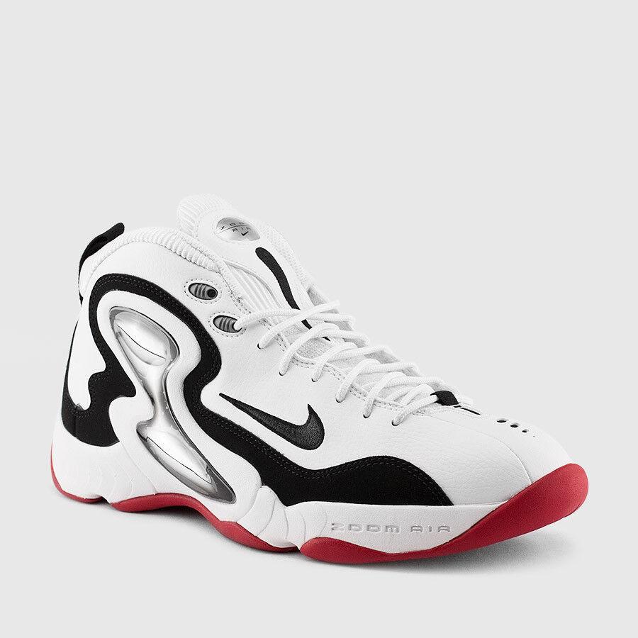 Size 11   11.5   12 Nike Men Zoom Hawk Flight shoes 805272 100 White Silver Red