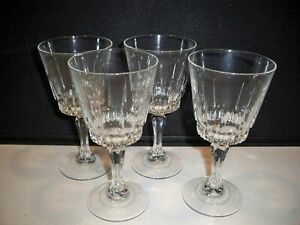 4-CRYSTAL-FRENCH-GOBLETS-VERTICAL-CUT-MULTISIDED-STEMS-8-OUNCES