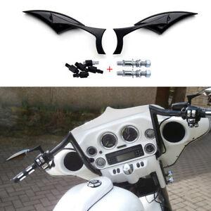 Motorcycle Blade Rectangular Rearview Mirrors For Harley Honda Suzuki Kawasaki