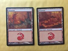 2 Misprint Mountain Mirrodin Besieged Light-Printed MTG Magic Card
