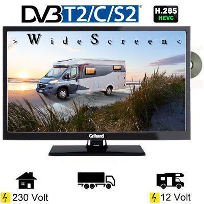 Gelhard GTV2441 LED Fernseher 24 Zoll DVB/S/S2/T2/C, DVD, USB, 12V 230 Volt