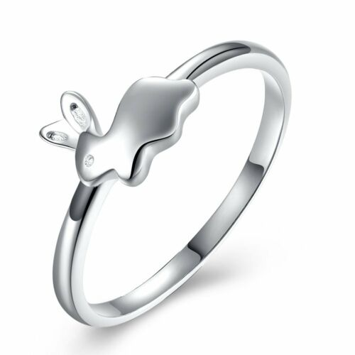 Adorable Bunny 925 Sterling Silver Ring Ginger Lyne Collection