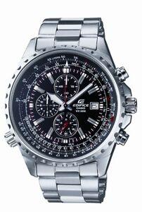 Casio-Edifice-Men-039-s-Quartz-Chrono-Silver-Tone-Bracelet-45-5Mm-Watch-Ef527d-1Av