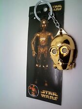 Star Wars C-3PO C3PO Portrait Golden Color Souvenir Keychain new in box