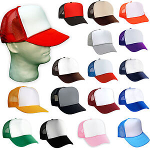 12 TRUCKER HATS ~ WHOLESALE BULK LOT ~ 1 DOZEN Mesh Caps Adjustable ... 625ef192988