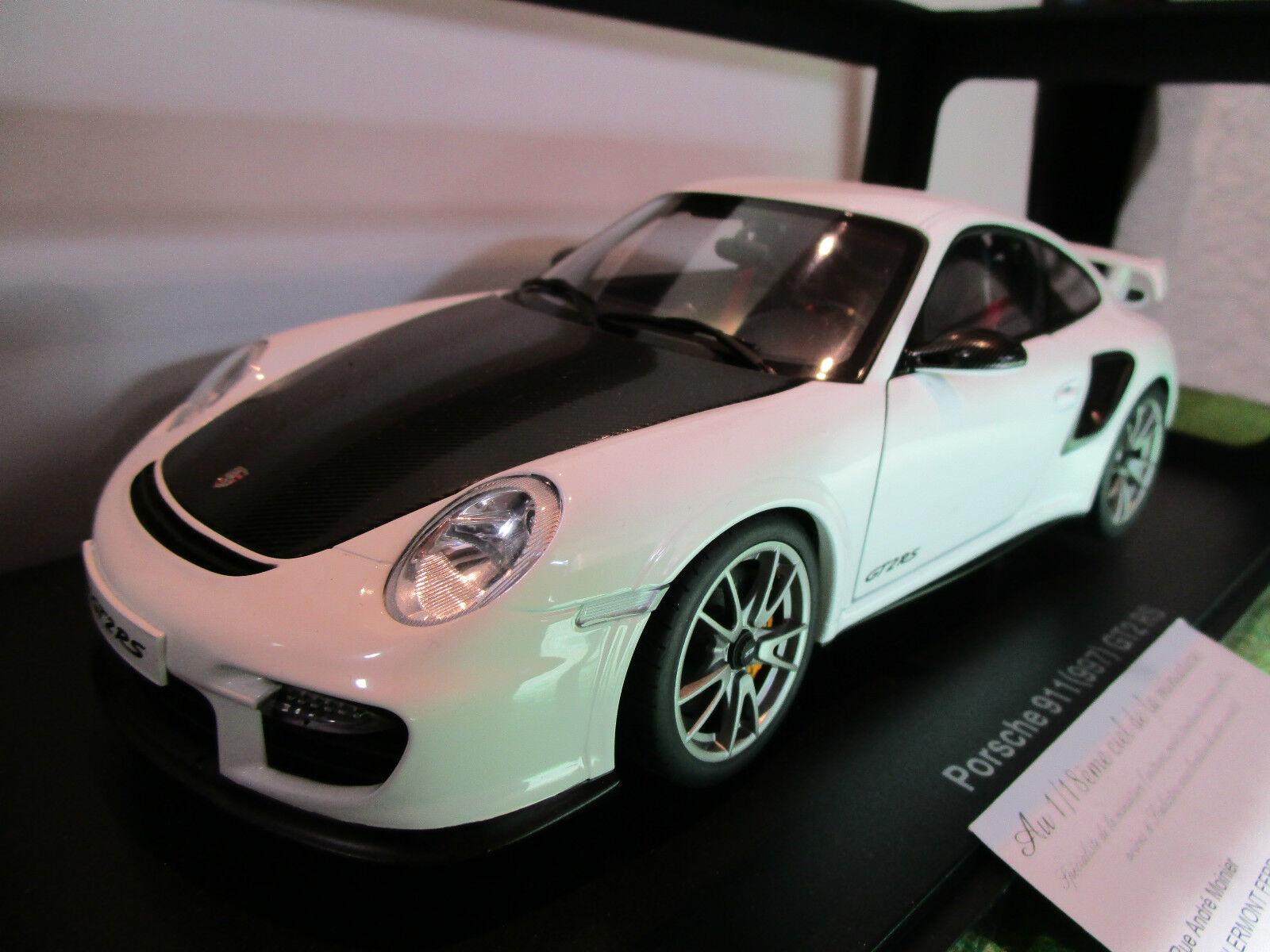 PORSCHE 911 type 997 GT2 RS blnc 1 18 AUTOART 77963 voiture miniature collection