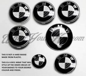 Noir-Blanc-Carbone-Fibre-Badge-Coins-Set-BMW-M3-3-Serie-E90-E91-E92-E93-F20