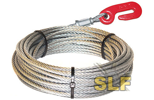 """IGLAND NORSE 3 POINT HITCH LOGGING WINCH CABLE 165/' X 1//2/"""" WITH HOOK SKIDDER NEW"""