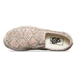 d838be00e50e7d Vans Classic Slip On Mono Print Snake Women s 7.5 New NIB Pink Gray ...