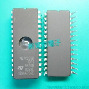Eprom-27C256-100-32Kx8-100ns-M27C256B-10F1-CMOS-von-STM-DIC28